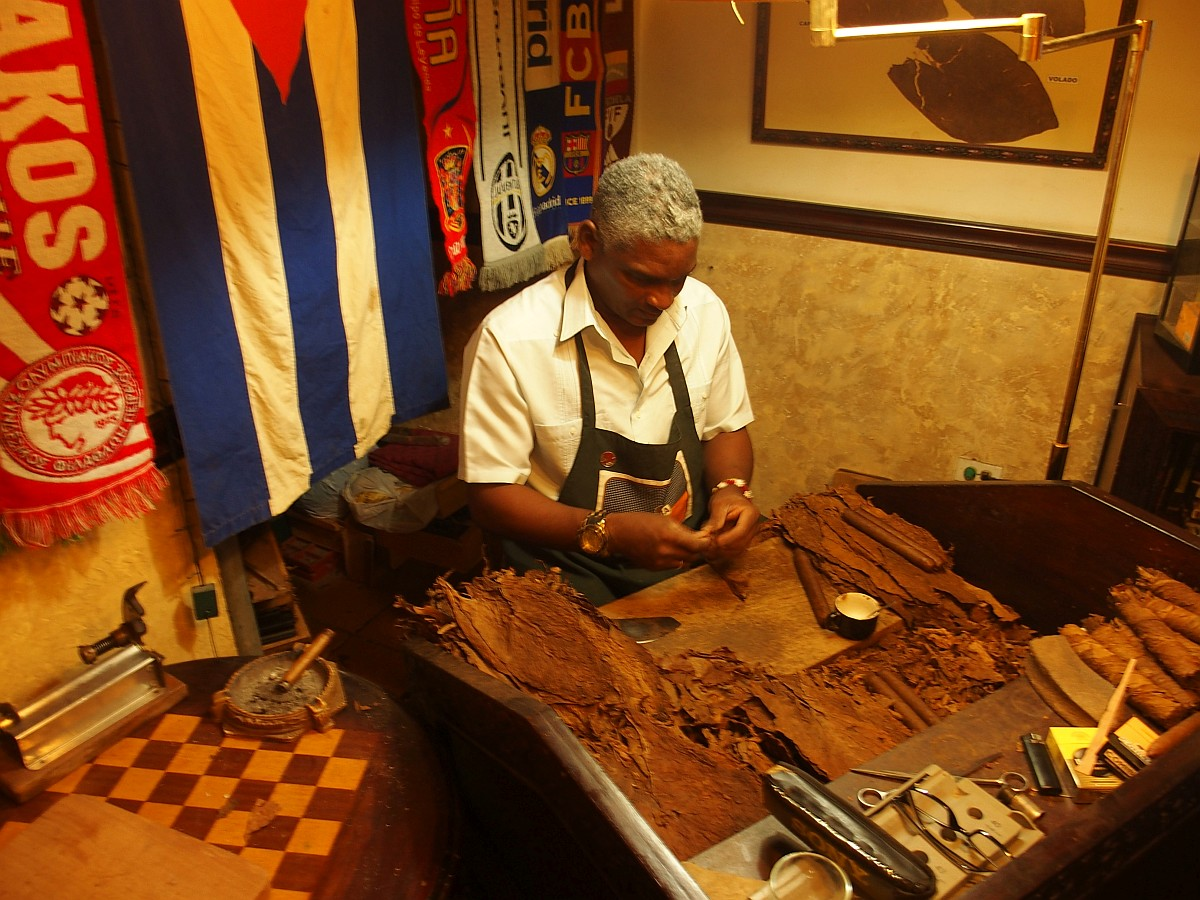 Arbeitsplatz eines Zigarrendrehers